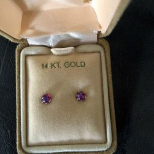 Jewelry - 14 KT Yellow Gold 4 MM Lindy Star Earrings